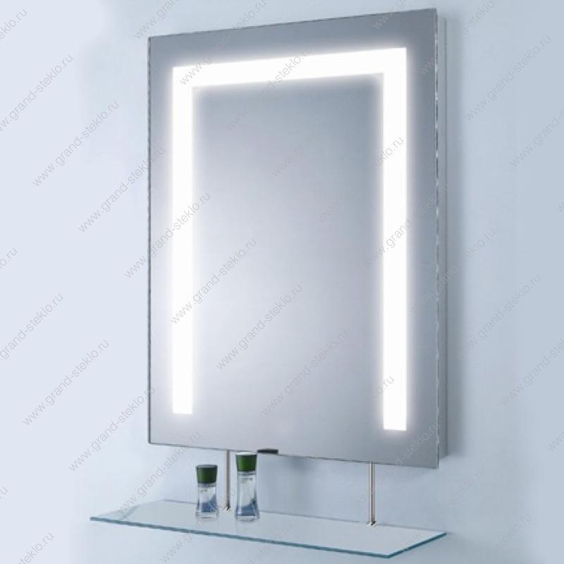 Зеркало  комнату с подсветкой и с полочкой